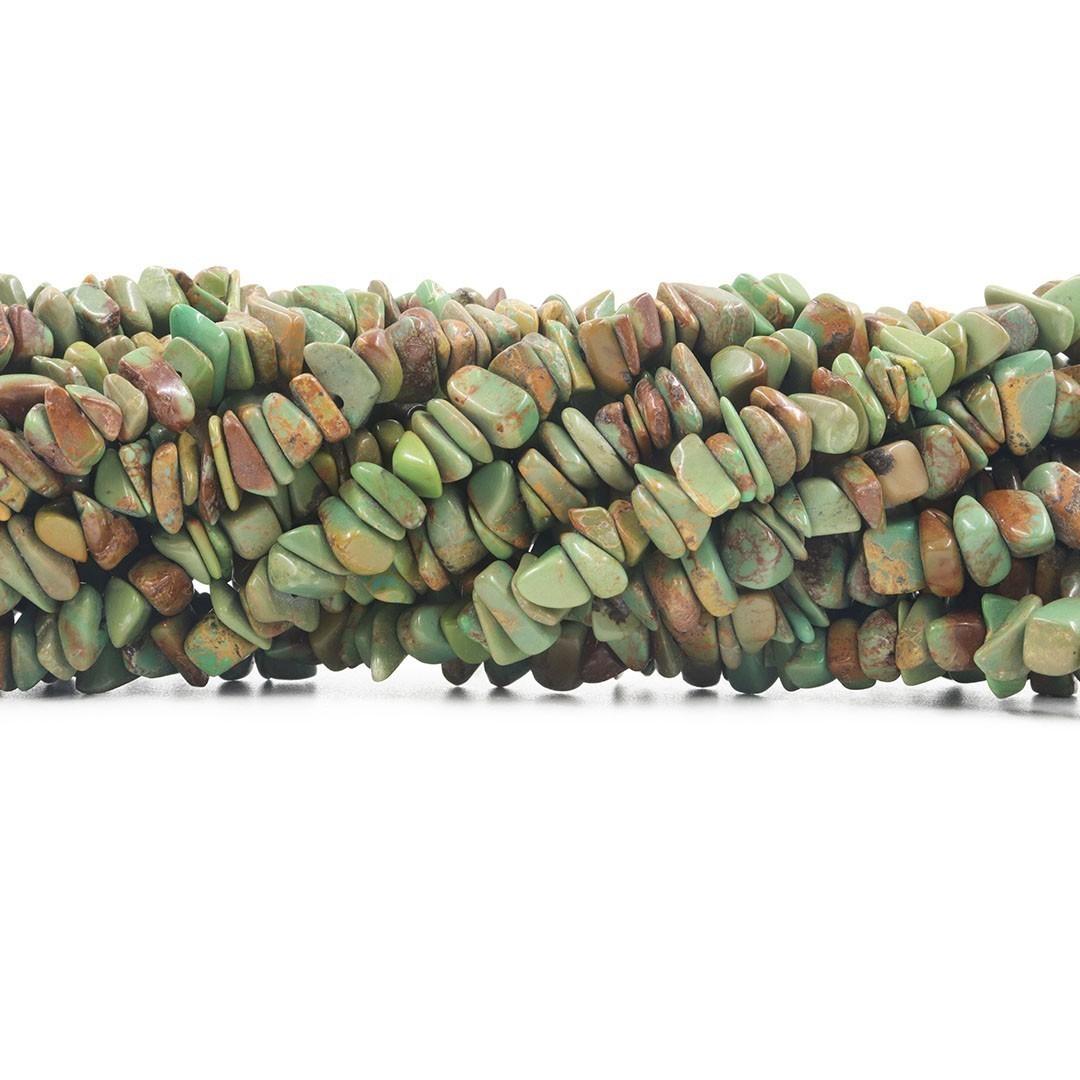 Fio de Cascalho de Turquesa Africana Verde - FC064  - ArtStones