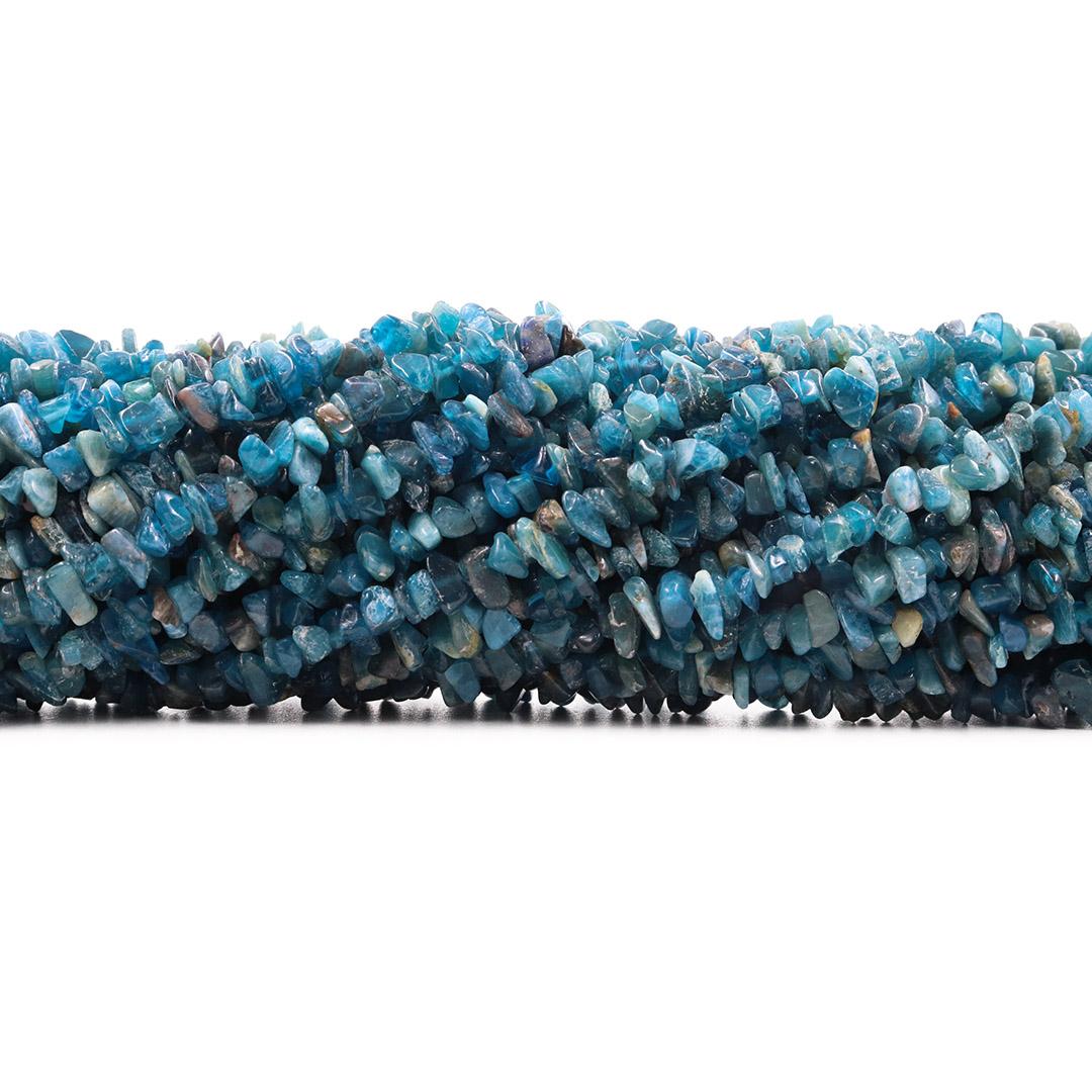Fio de Cascalho Fino de Apatita Natural Mesclada - FC083  - ArtStones