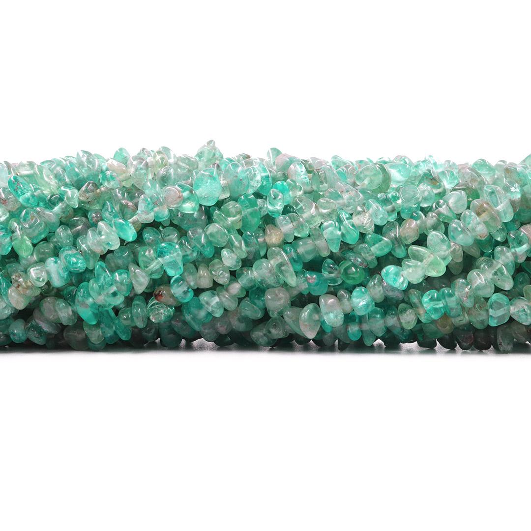 Fio de Cascalho de Apatita Verde Natural - FC091  - ArtStones
