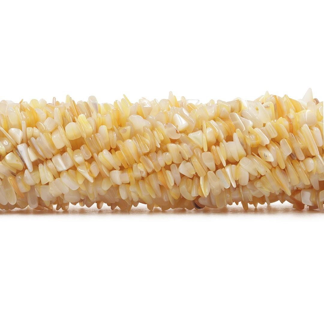 Fio de Cascalho Fino de Madrepérola Amarela - FC020  - ArtStones