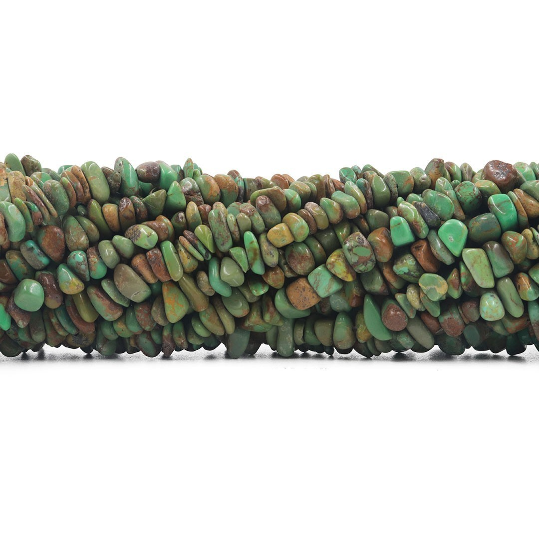Fio de Cascalho Fino de Turquesa Africana - FC078  - ArtStones