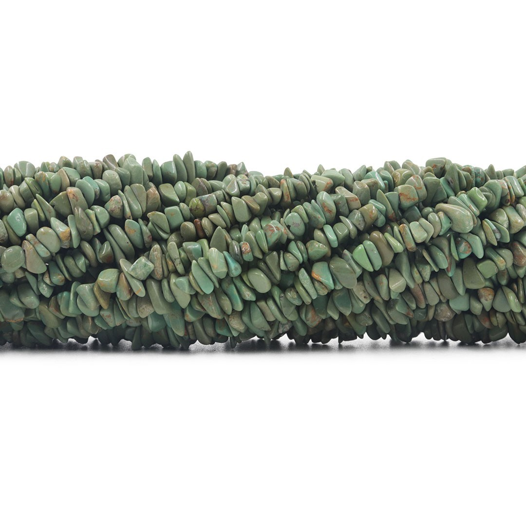 Fio de Cascalho Fino de Turquesa Verde - FC077  - ArtStones
