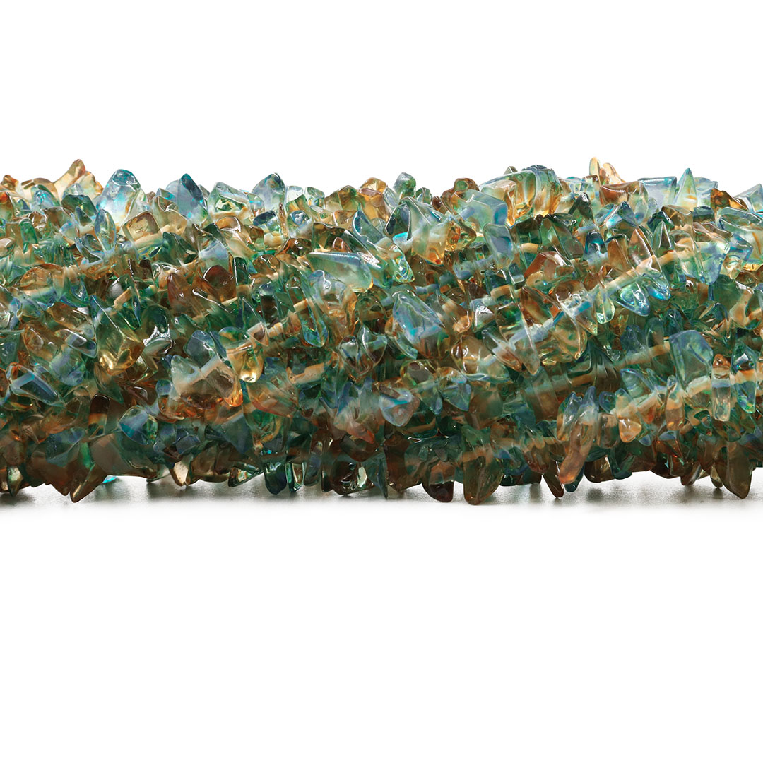 Fio de Cascalho Murano Bicolor Azul com Citrino - FC013  - ArtStones