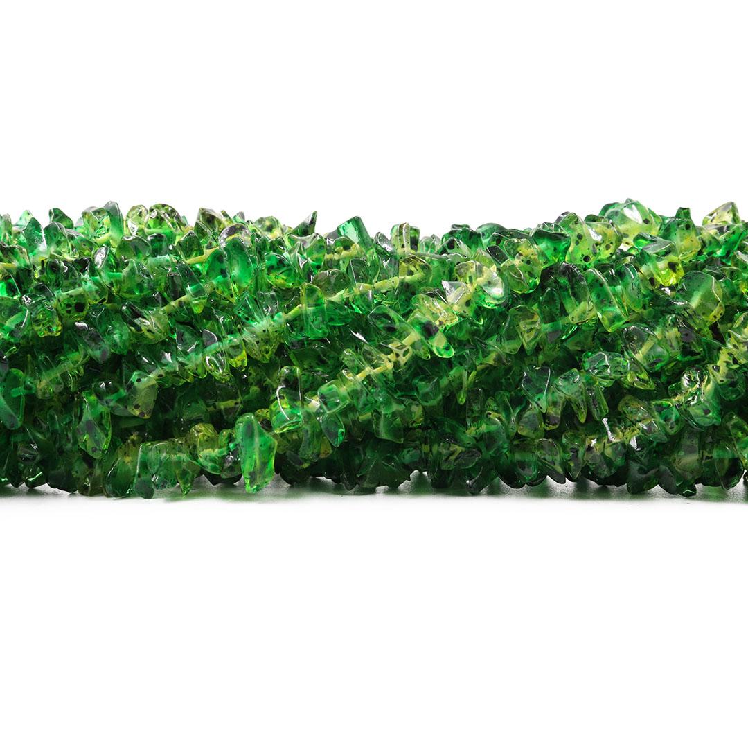 Fio de Cascalho Murano Verde Poá - FC050  - ArtStones