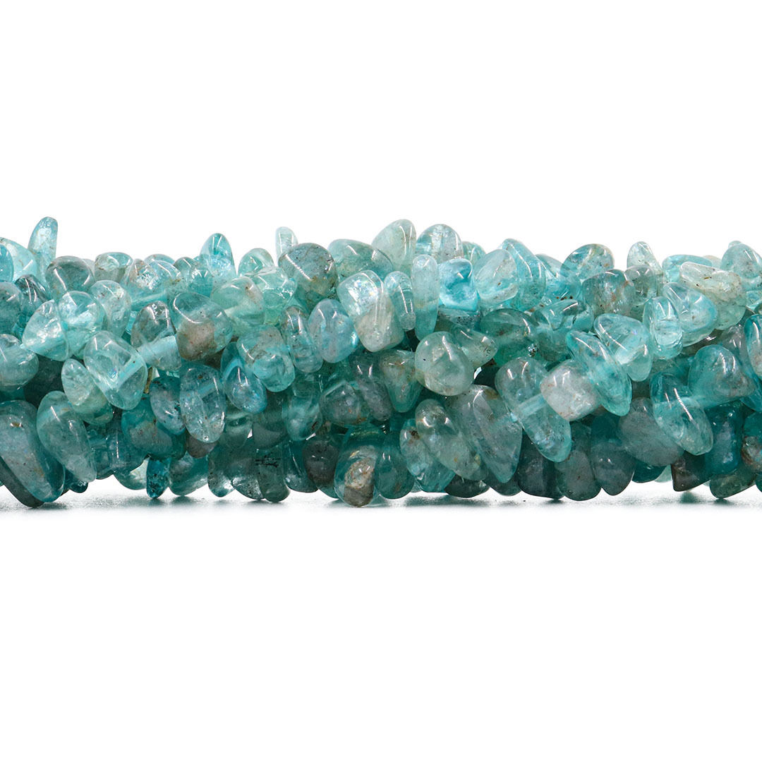 Fio de Cascalho Rolado  de Apatita Azul Natural - FC061  - ArtStones