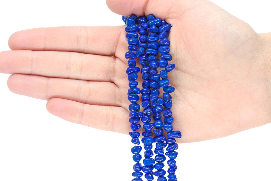 Fio de Cascalho de Howlita Cérebro Azul - FC092  - ArtStones