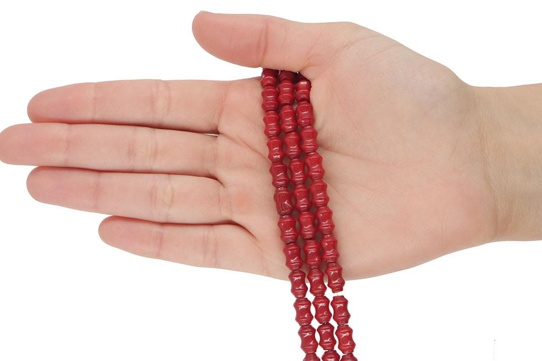 Fio de Coral Gomo Vermelho 10x6mm - CO034  - ArtStones