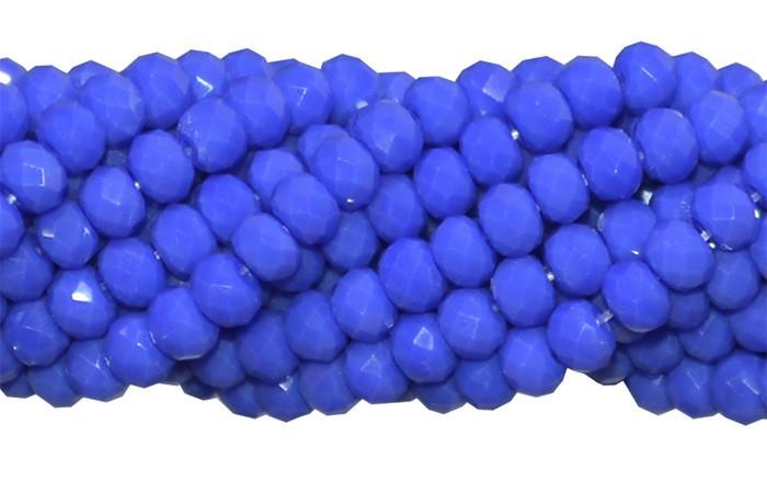 Fio de Cristal de Vidro Azul Anil Leitoso 3mm - 144 cristais - CV037  - ArtStones