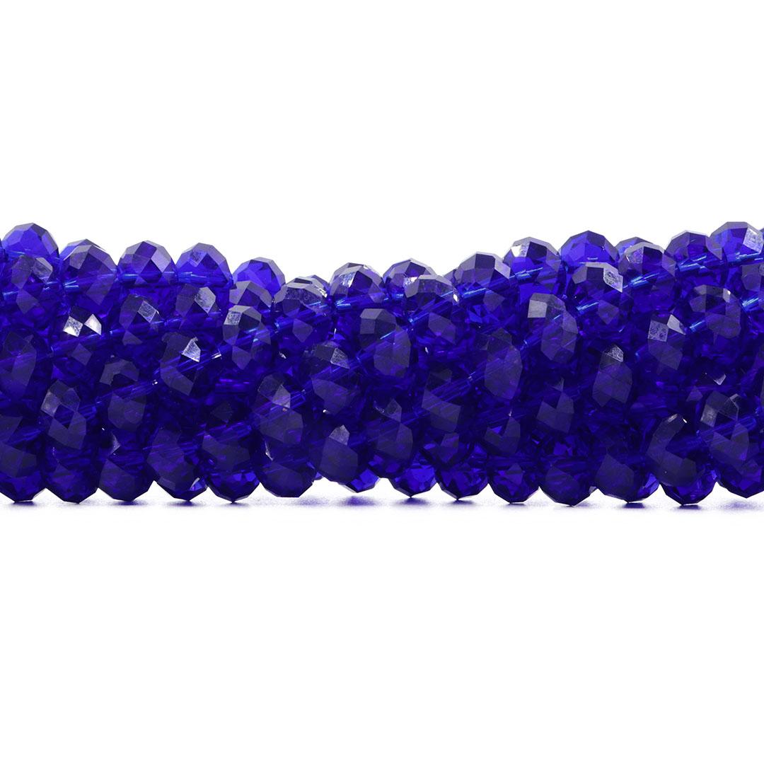 Cristal de Vidro Azul Bic 12mm - 67 cristais - CV249  - ArtStones