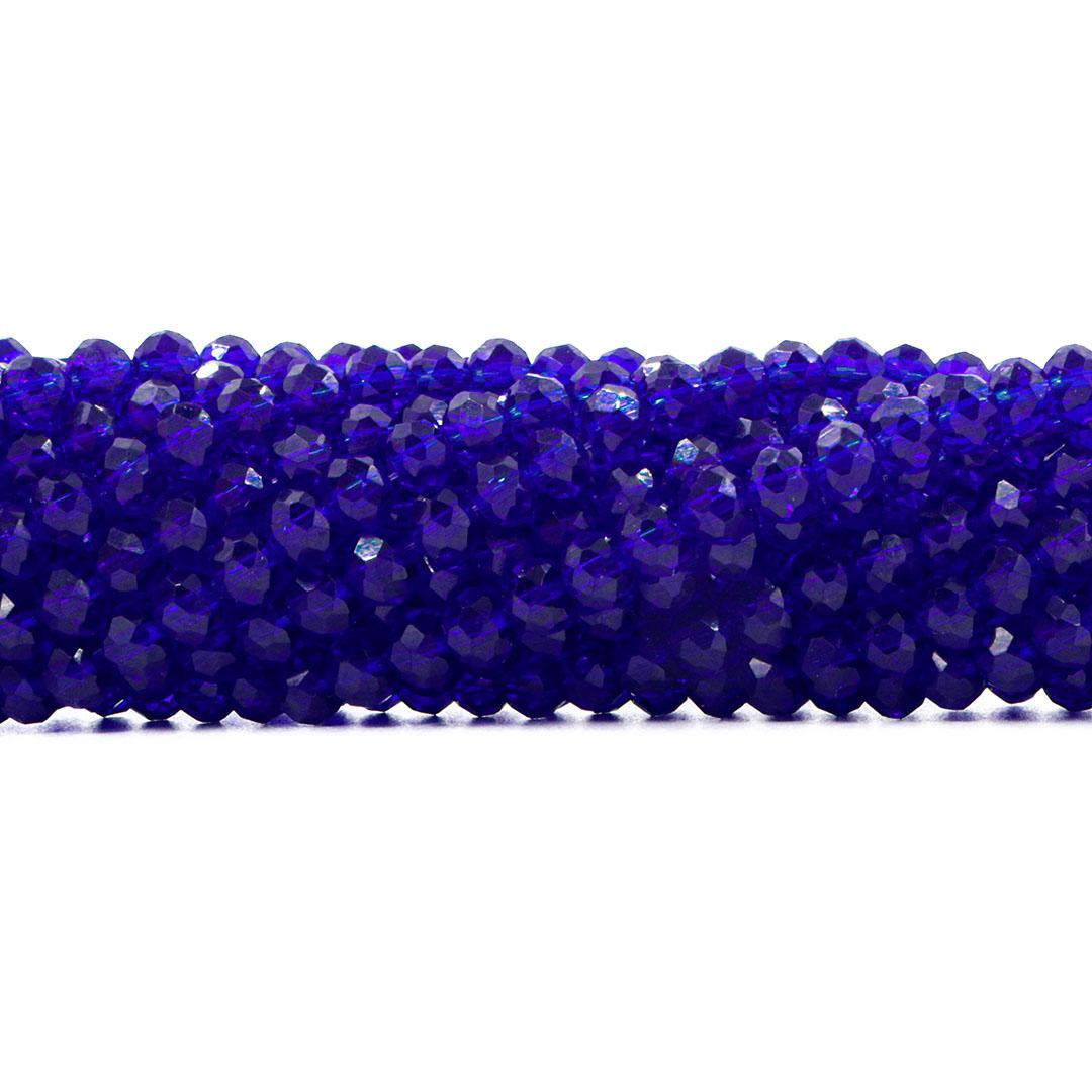 Cristal de Vidro Azul Bic 8mm - 67 Cristais - CV258  - ArtStones