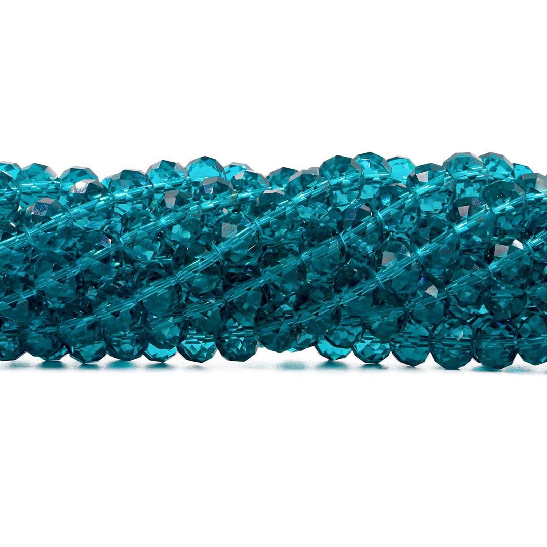Fio de Cristal de Vidro Azul Oceânico 6mm - 90 cristais - CV410  - ArtStones