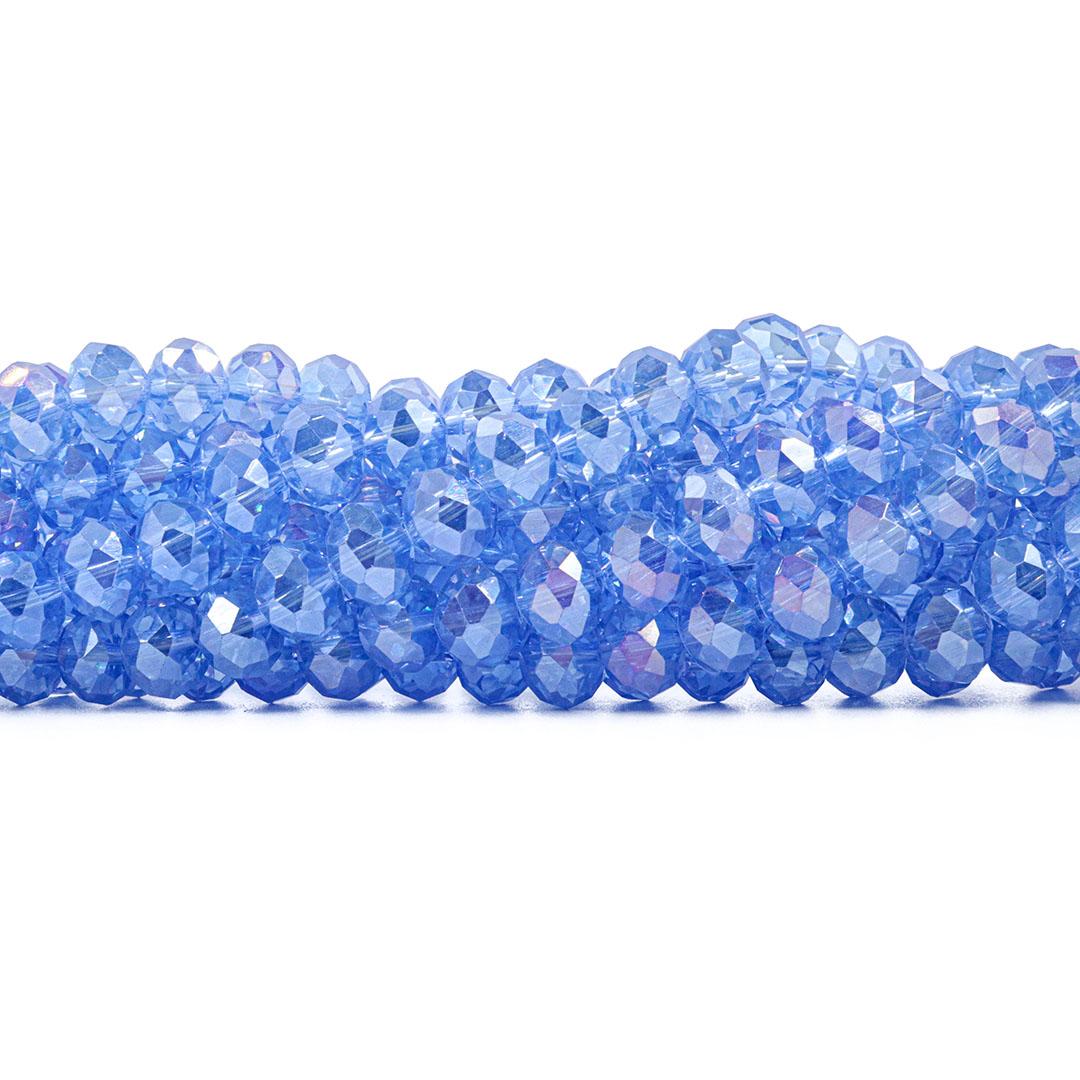 Fio de Cristal de Vidro Azul Royal Boreal 10mm - 67 Cristais - CV222  - ArtStones