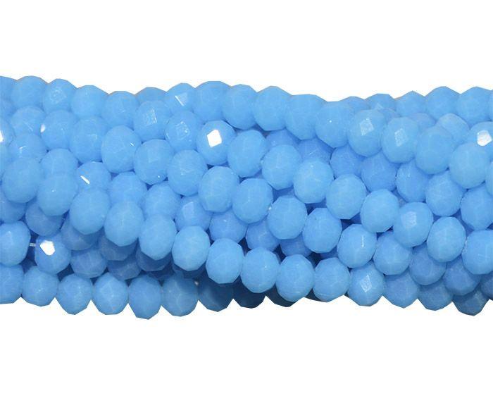Fio de Cristal de Vidro Azul Translúcido 2mm - 180 cristais - CV020  - ArtStones