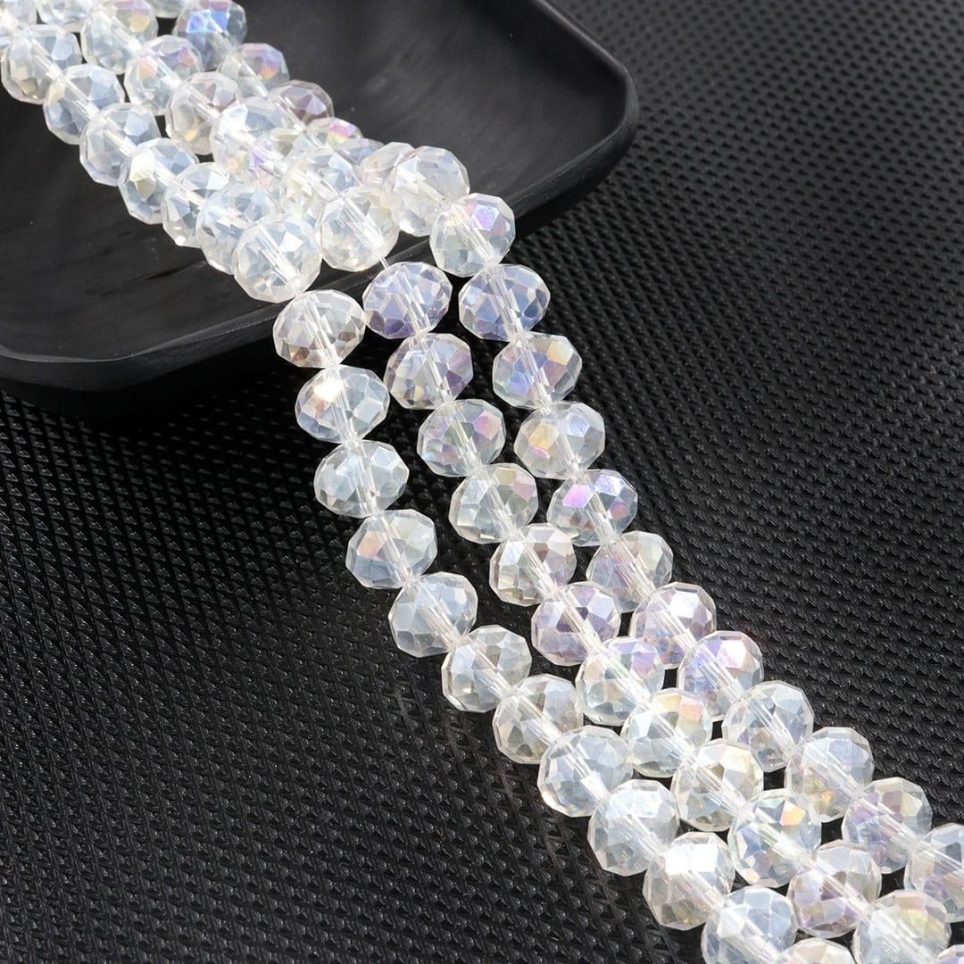 Fio de Cristal de Vidro Boreal 10mm - 67 cristais - CV179  - ArtStones