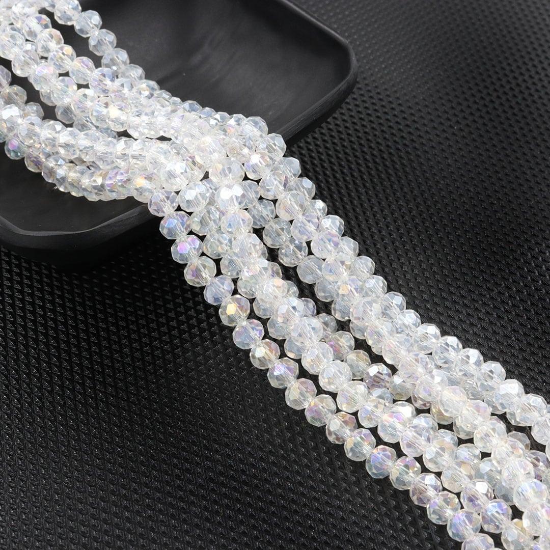Fio de Cristal de Vidro Boreal 4mm - 124 cristais - CV181  - ArtStones