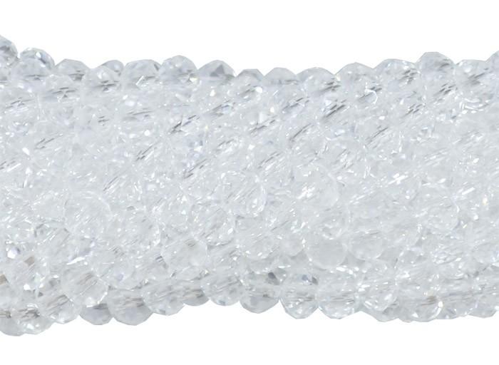 Fio de Cristal de Vidro Transparente 4mm - 140 cristais - FCR_69  - ArtStones