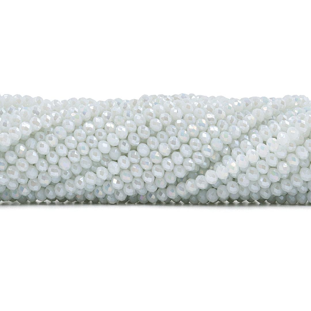 Fio de Cristal de Vidro Branco Noiva Boreal 4mm - 128 cristais - CV414  - ArtStones