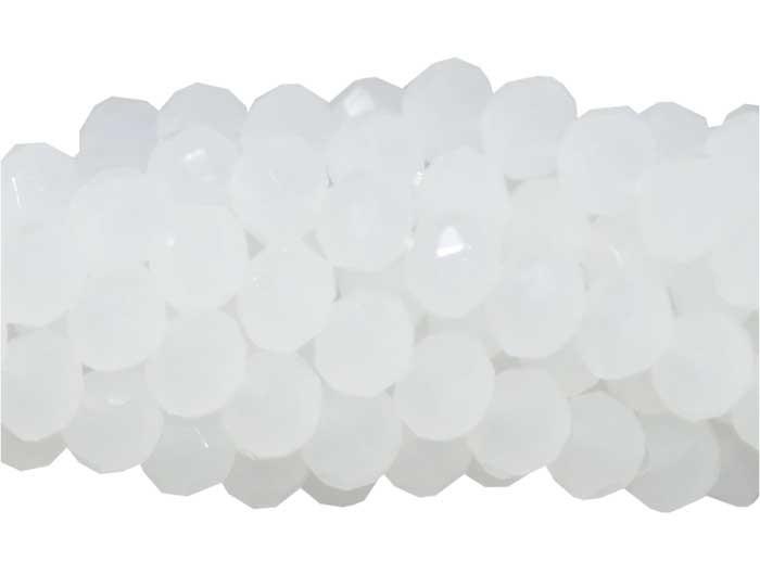 Fio de Cristal de Vidro Branco Translúcido 3mm - 144 cristais - CV040  - ArtStones