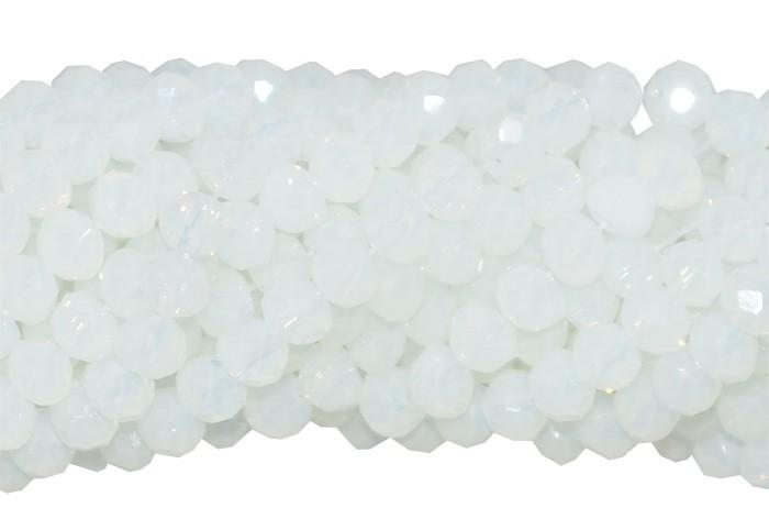 Fio de Cristal de Vidro Opalina 4mm -130 cristais - CV418  - ArtStones