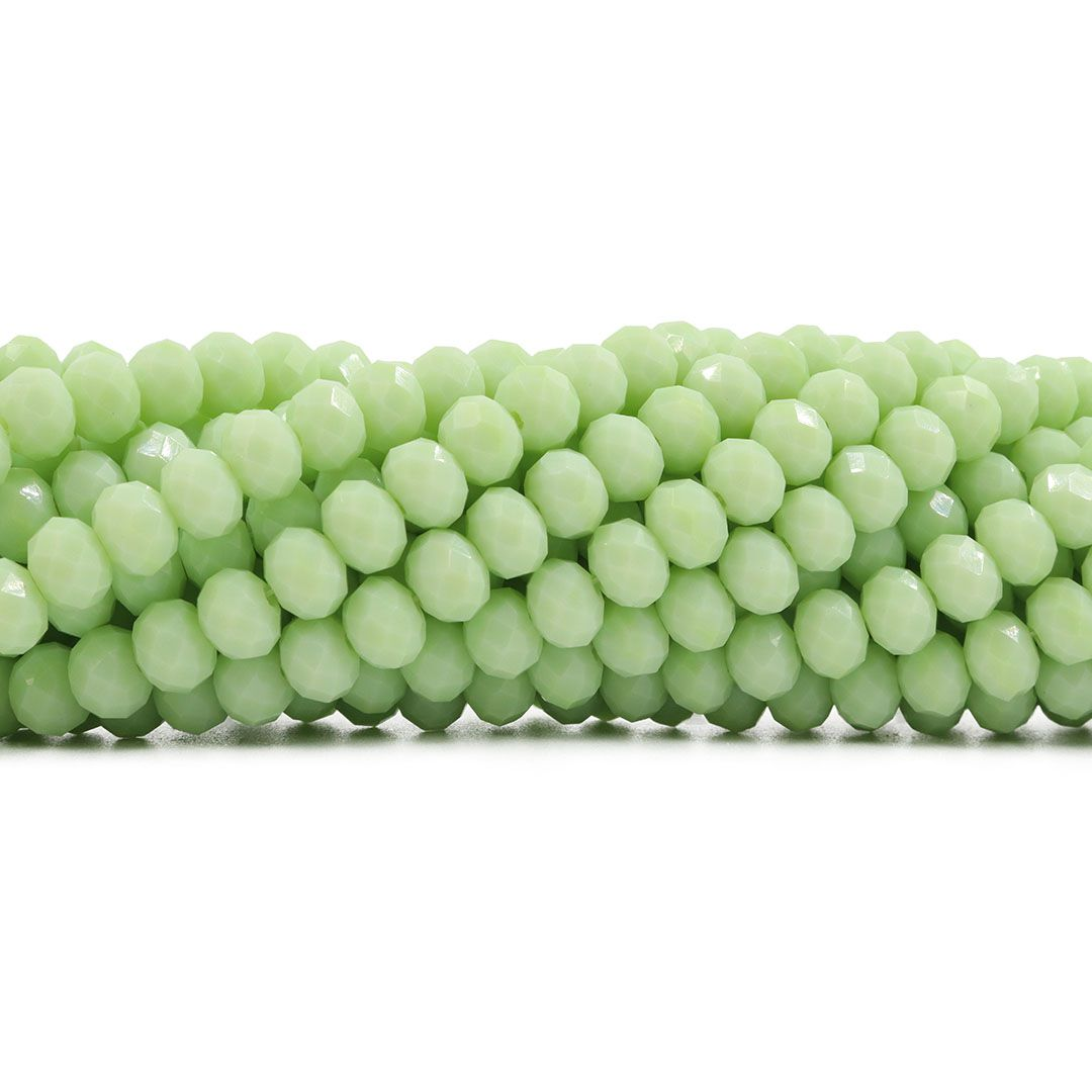 Fio de Cristal de Vidro Verde Menthos 8mm - 66 cristais - CV289  - ArtStones
