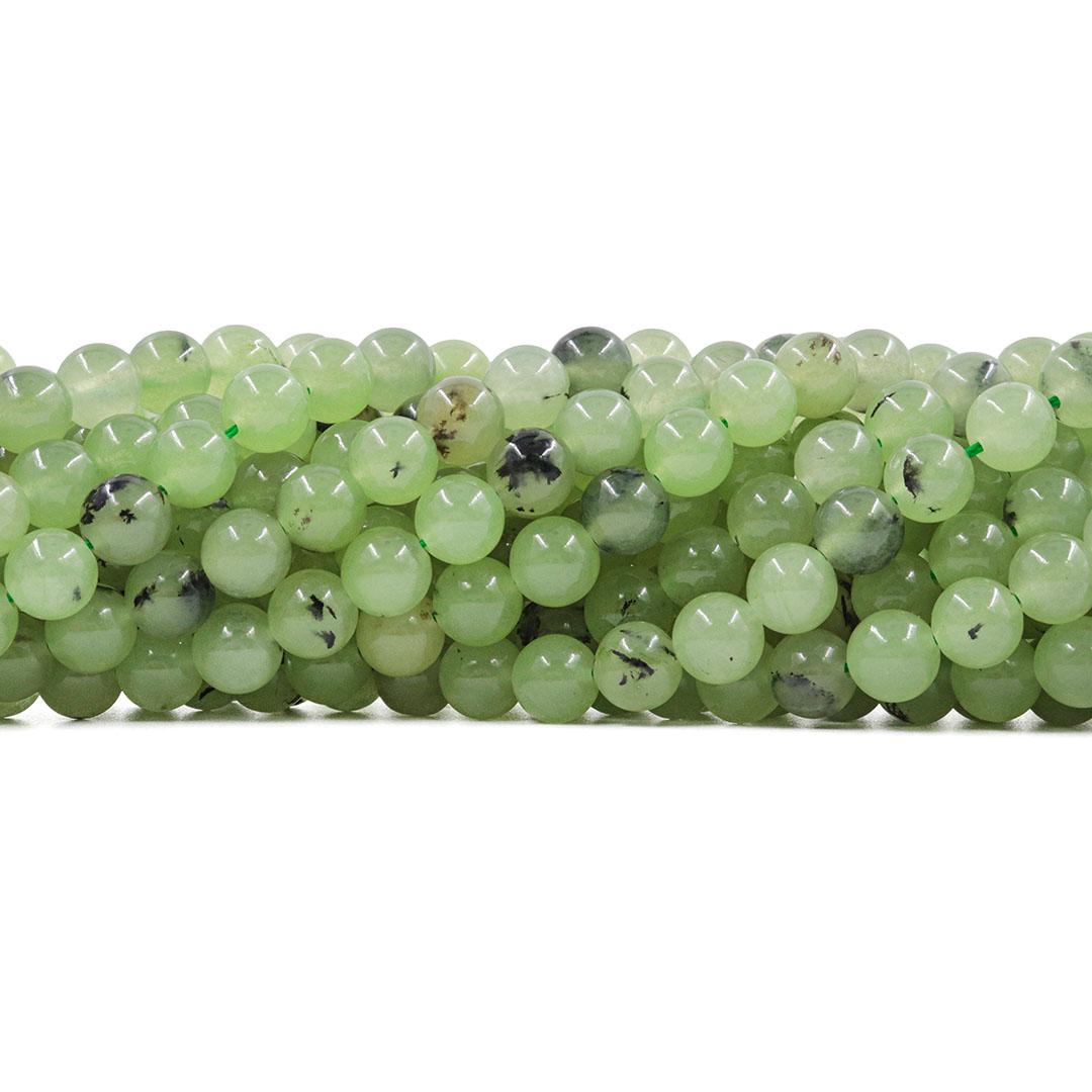 Quartzo Rutilado Verde Natural Fio com Esferas de 8mm  - F629  - ArtStones