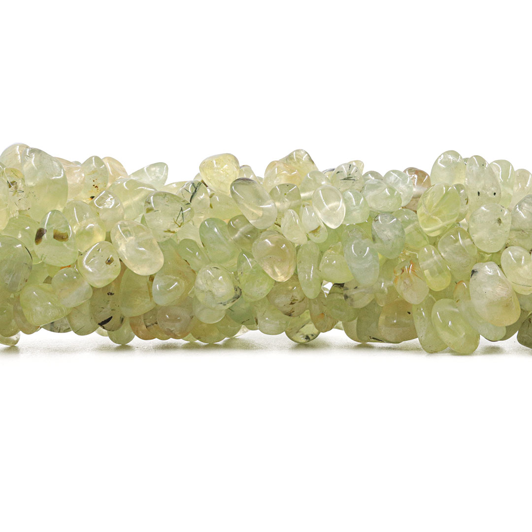 Fio de Cristal Rutilo Verde Natural Nugget - F293  - ArtStones