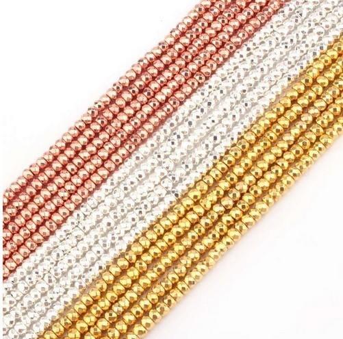 Fio de Hematita Prata Briolet 8x3mm Qualidade Extra - FHE_207  - ArtStones