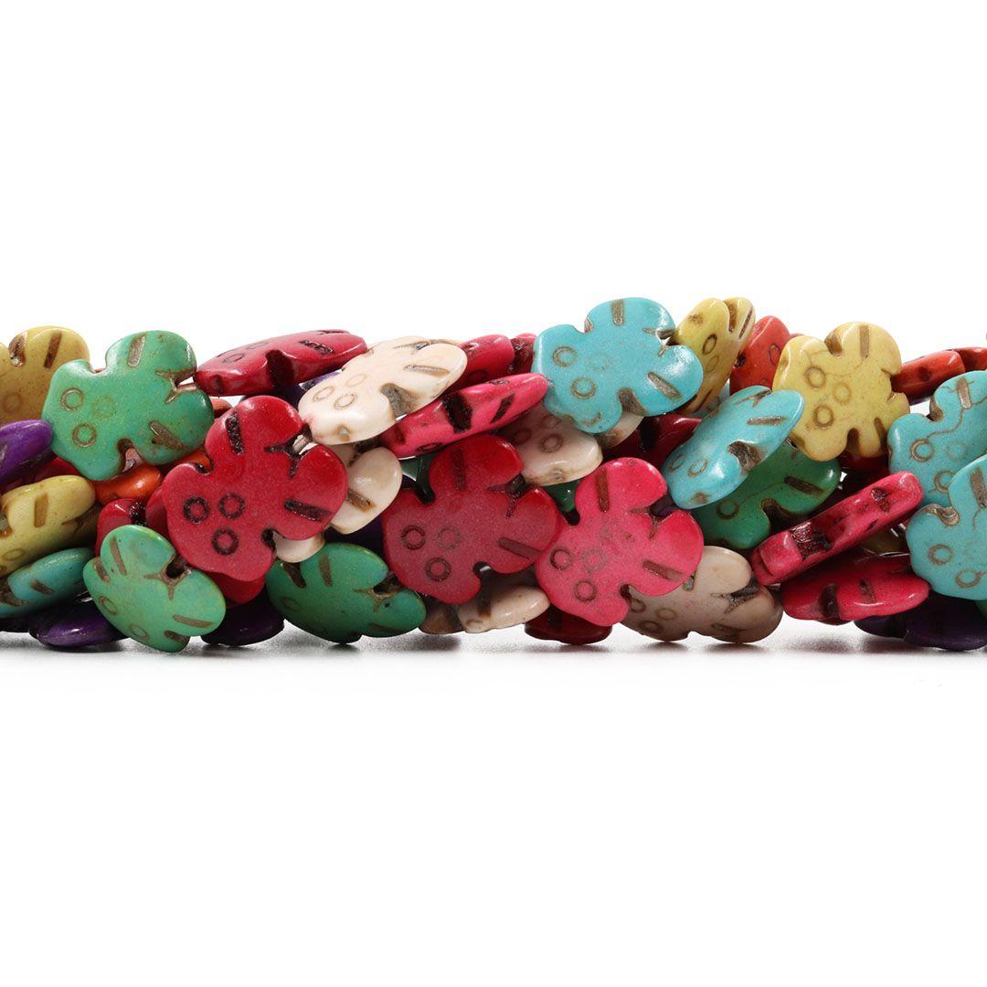 Fio de Howlita Colorida Robozinho 18mm - HO001  - ArtStones