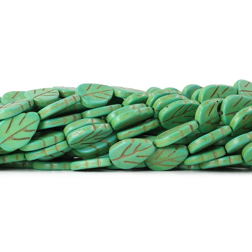 Fio de Howlita Folha Verde 19.5mm - HO050  - ArtStones