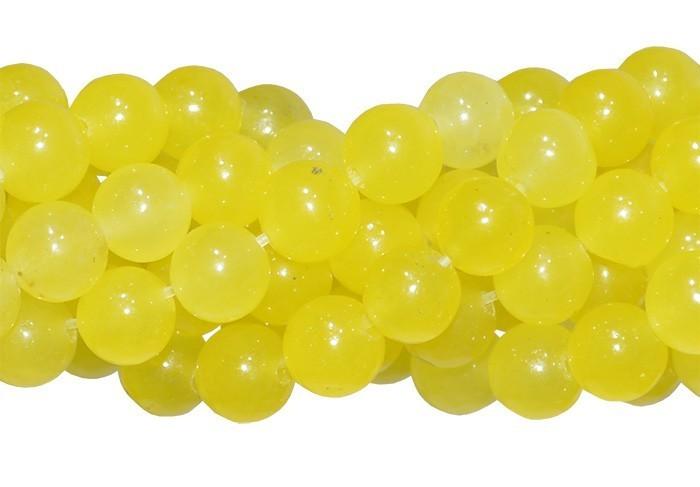 Jade Amarelo Citrus Fio com Esferas de 4mm - F278  - ArtStones