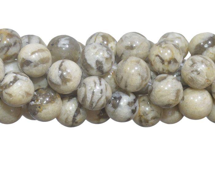 Jaspe Vanilla Fio com Esferas de 6mm - FESF_700/6  - ArtStones