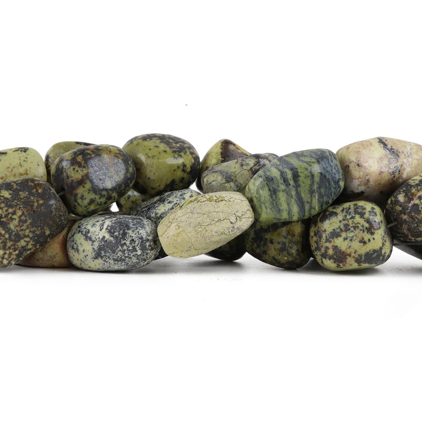 Fio de Jaspe Verde Mesclado Rolado - RO043  - ArtStones