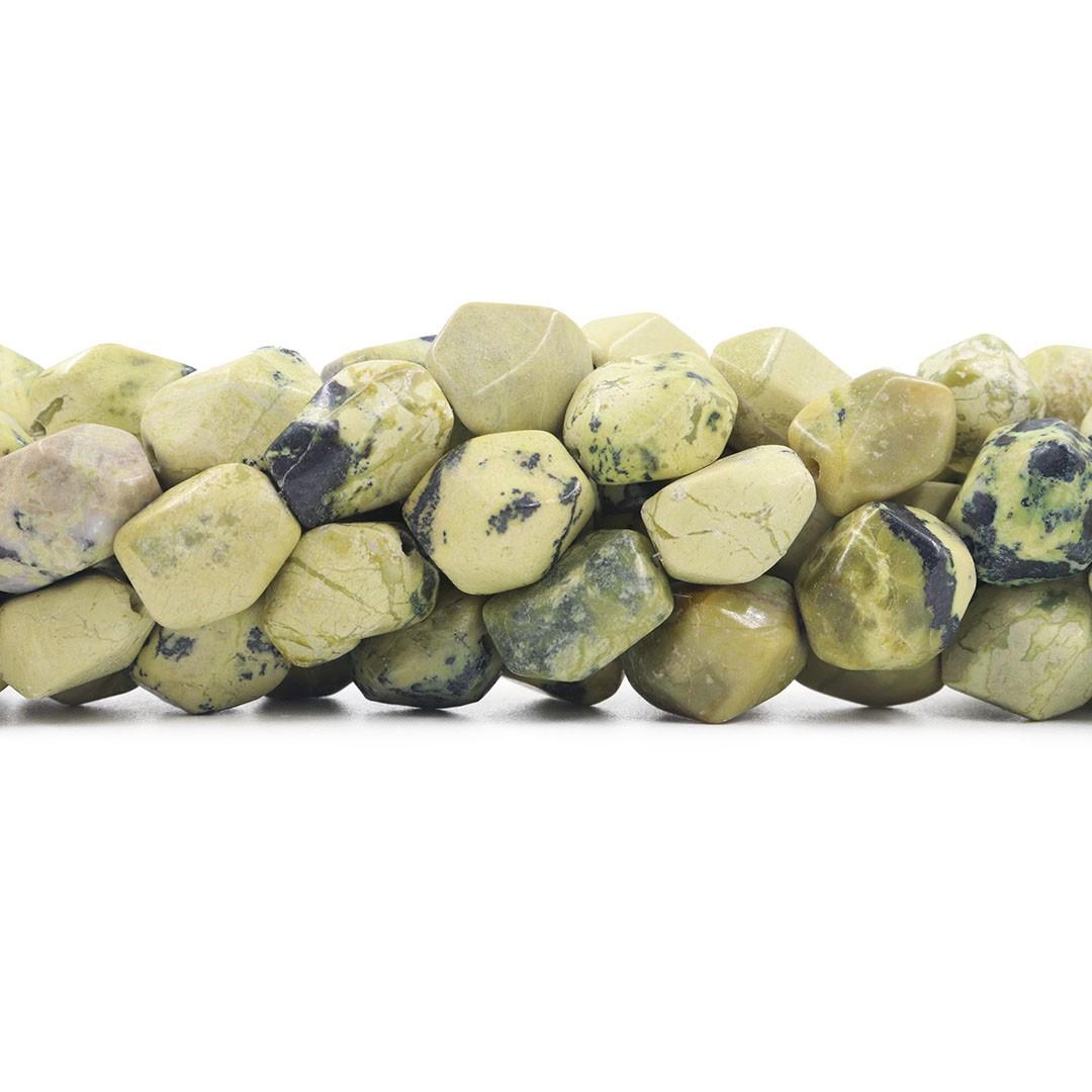 Fio de Jaspe Verde Rolado Chanfrado - RO046  - ArtStones
