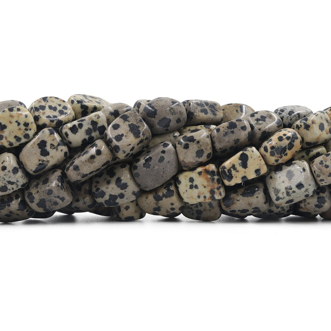 Fio de Obsidiana Dalmata Rolada Tamanhos Variados - RO014  - ArtStones