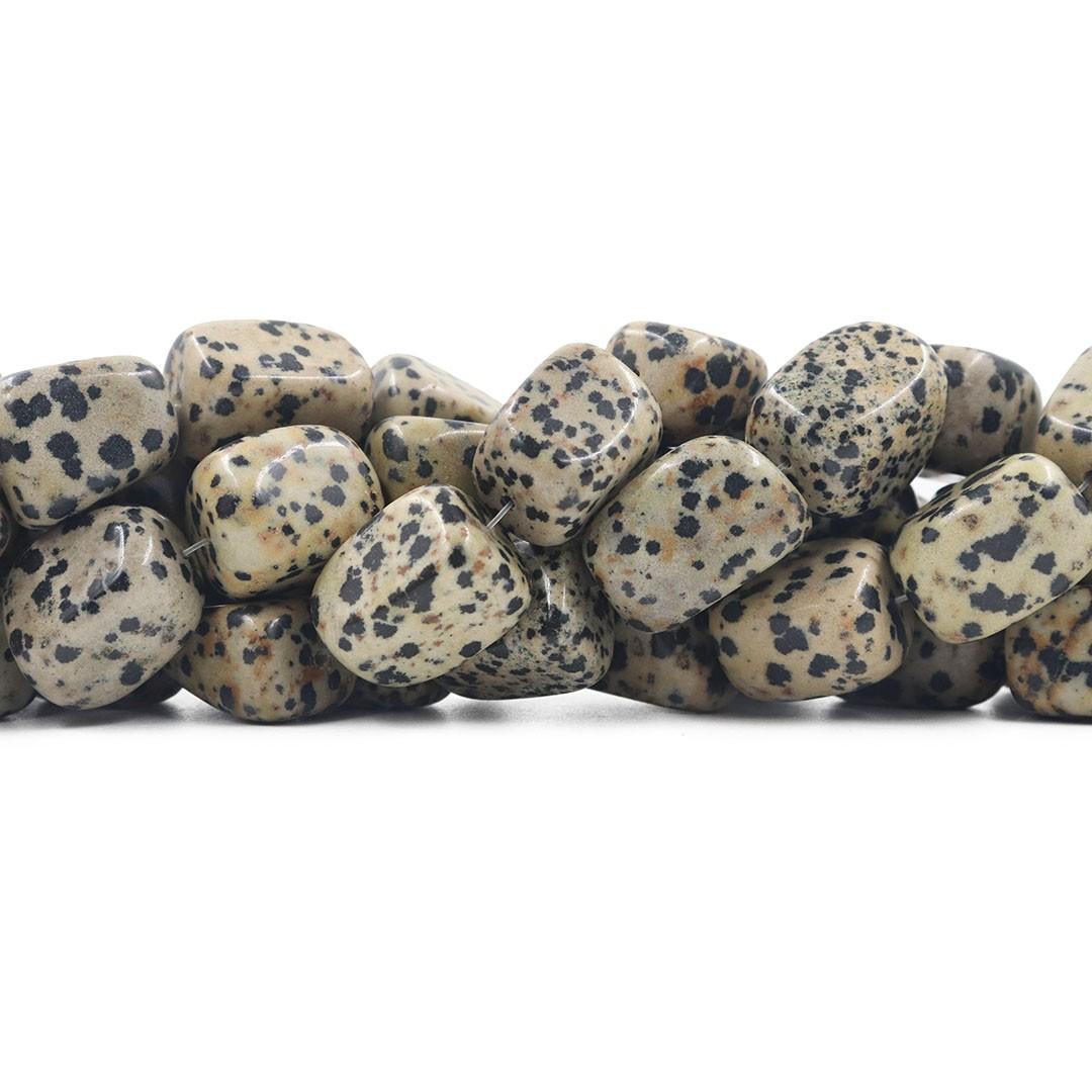 Fio de Obsidiana Dalmata Rolada Tamanhos Variados - RO016  - ArtStones