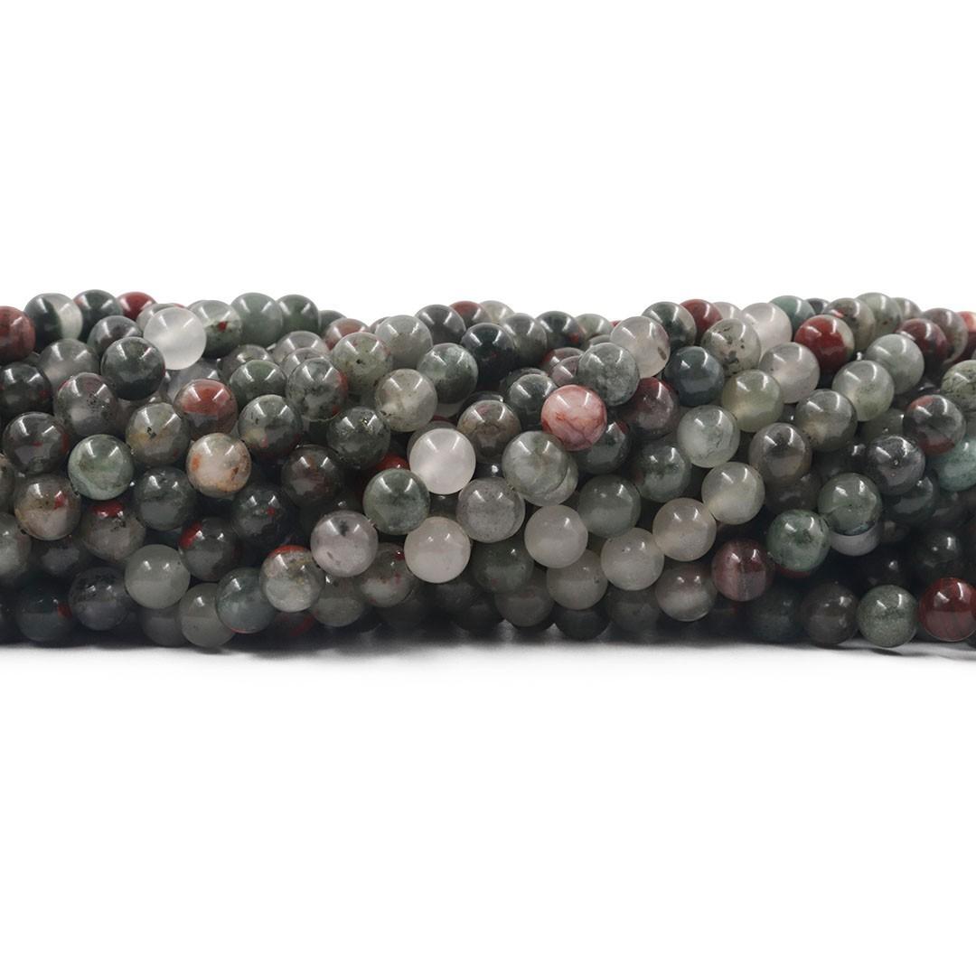 Fio de Pedras Naturais Mix Esferas de 6mm - F279  - ArtStones