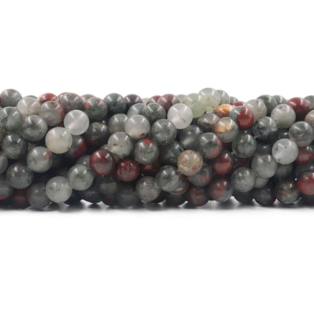Fio de Pedras Naturais Mix Esferas de 8mm - F513  - ArtStones