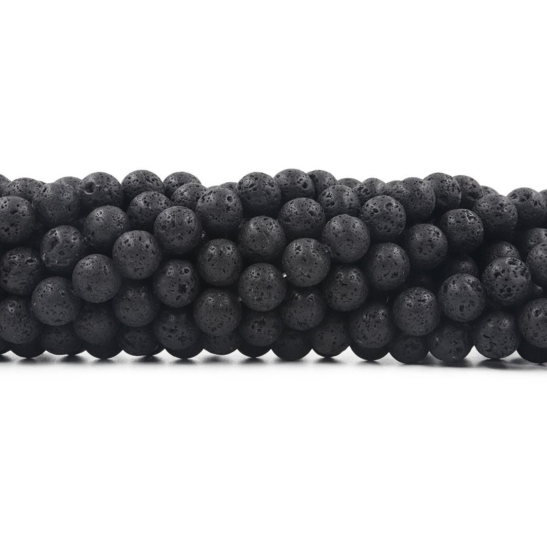 Fio de Pedra Vulcânica com Esferas de 10mm - F523  - ArtStones