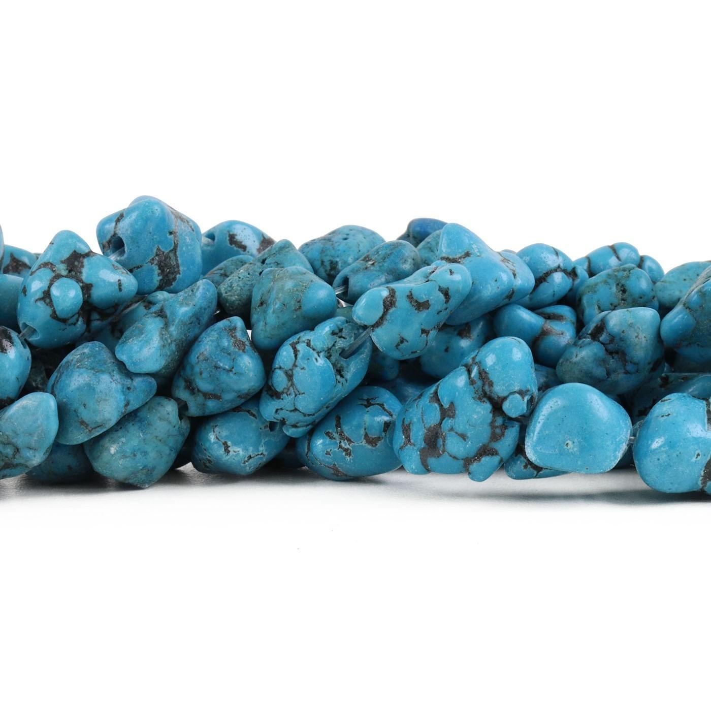 Fio de Turquesa Cérebro Azul Rolada - RO048  - ArtStones