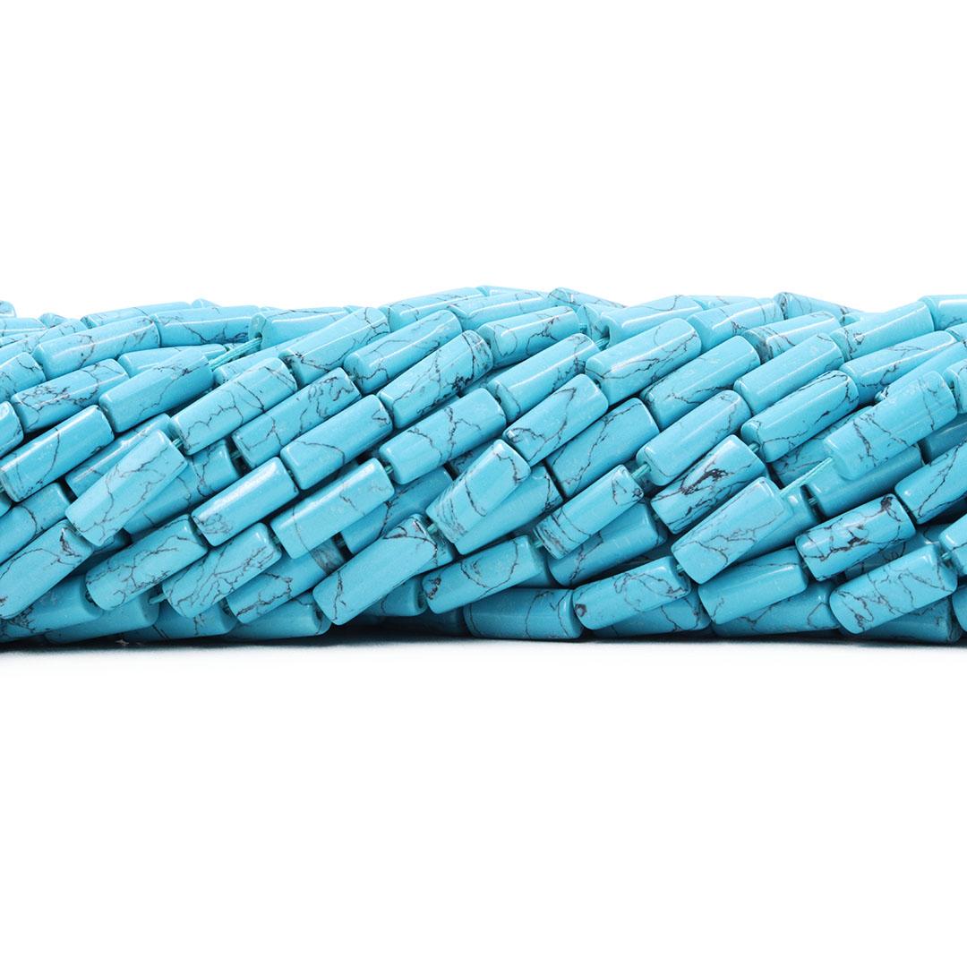 Fio de Howlita Azul Rolete Tamanho Misto - F790  - ArtStones