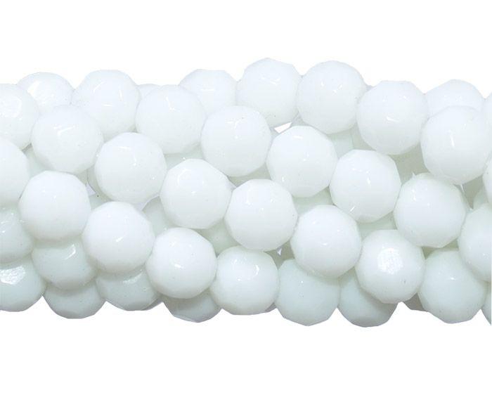 Fio para Guia de Cristal de Vidro Branco 10mm - Pacote  -CV223  - ArtStones