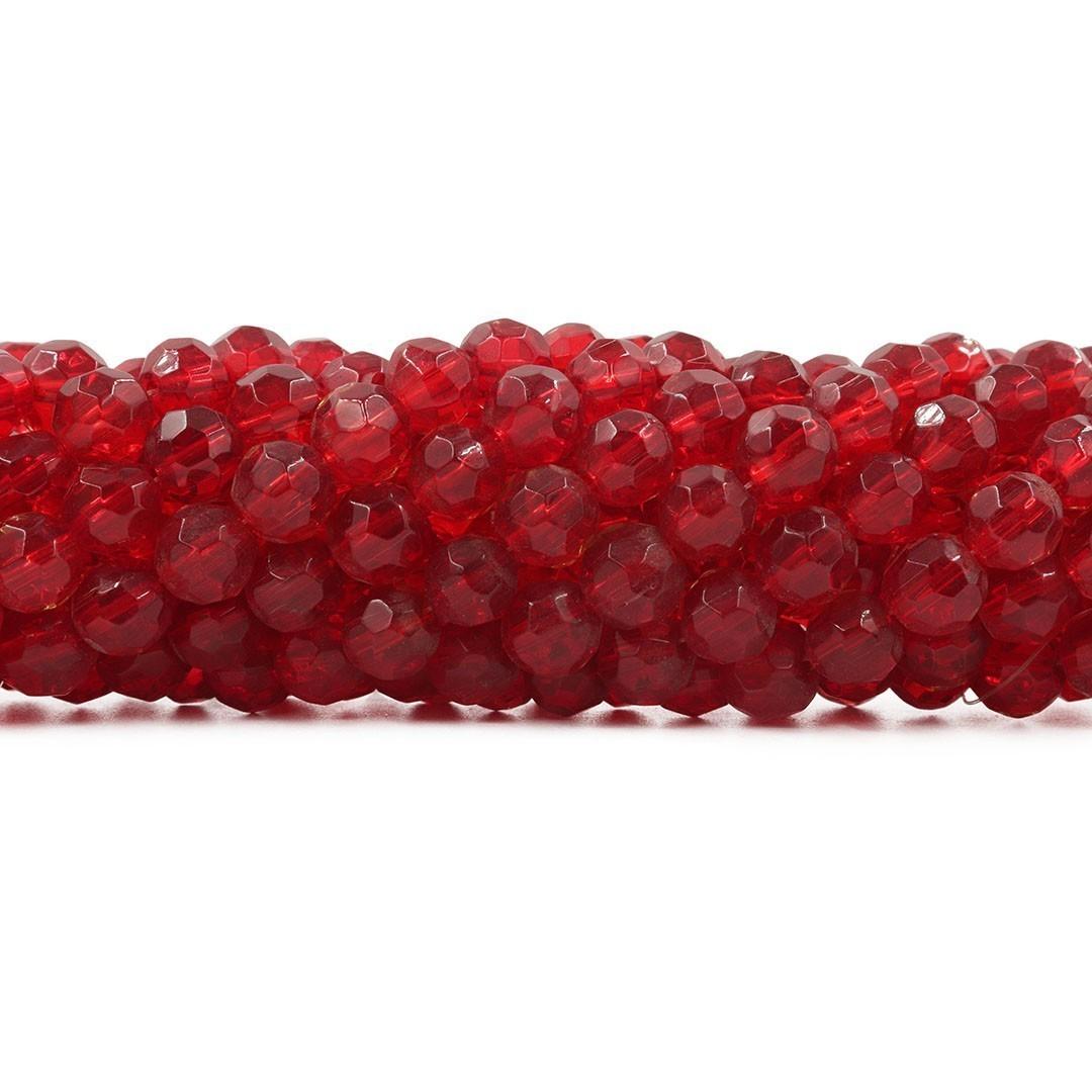Fio para Guia de Cristal de Vidro Vermelho Dark 10mm - 108 cristais  - CV310  - ArtStones