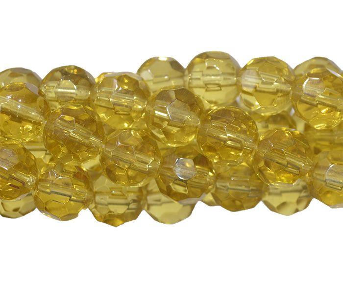 Fio para Guia de Cristal de Vidro Citrino 10mm - 108 cristais  - CV220  - ArtStones