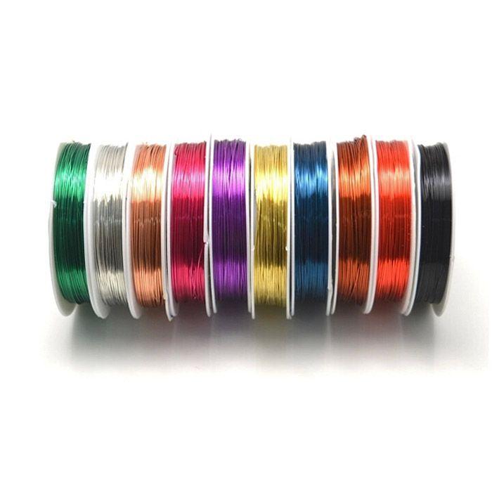 Fio Copper Colorido Espessura 0.30mm (Banho Chines) - Pacote  Mix - MM091  - ArtStones