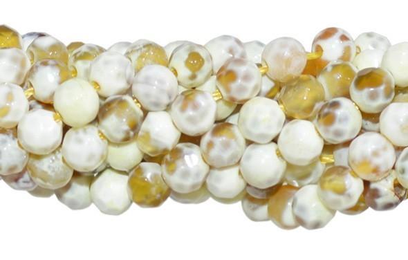 Ágata Dendrita Amarela Fio com Esferas de 6mm - FESF_124/6FA  - ArtStones