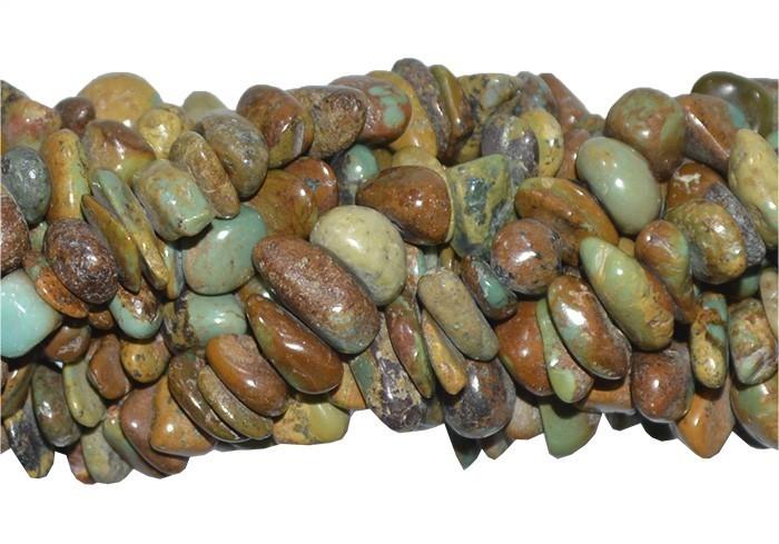 Fio de Cascalho de Turquesa Africana Ferrugem - FC071  - ArtStones