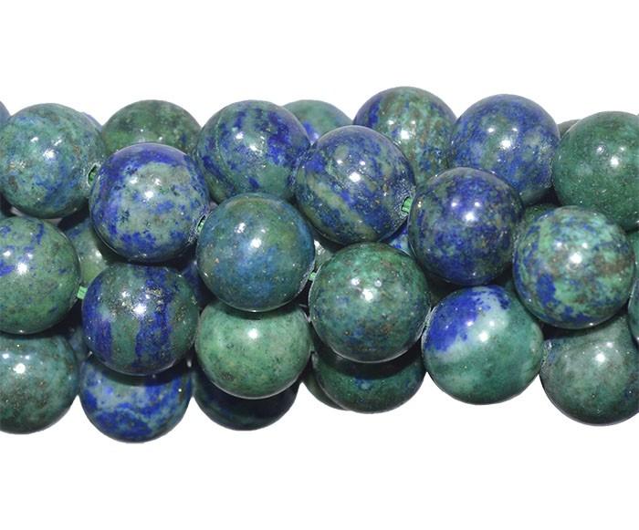 Pedra Natural Imitando Crisocola Fio com Esferas de 10mm - F170  - ArtStones