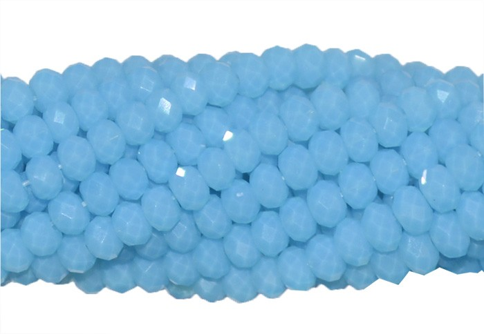 Fio de Cristal de Vidro Azul Celeste 3mm - 144 cristais - CV036  - ArtStones