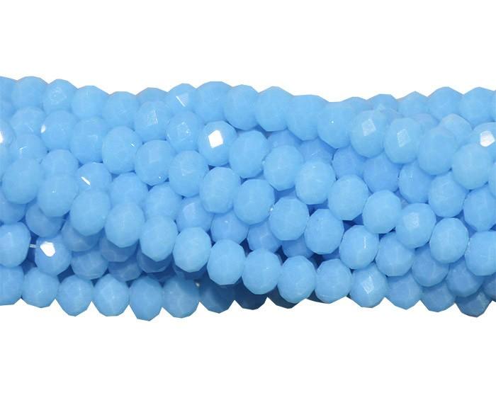 Fio de Cristal de Vidro Azul Bebê 3mm - 144 cristais - CV058  - ArtStones