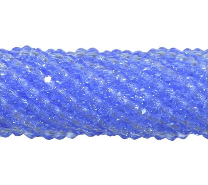 Fio de Cristal de Vidro Azul Royal 4mm - 140 cristais - CV078  - ArtStones